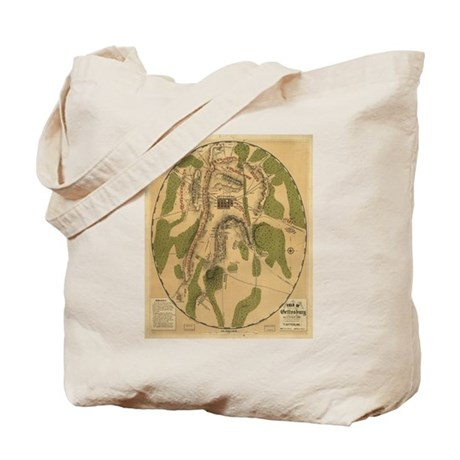 Gettyburg Map Tote Bag