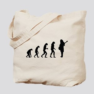 Evolution guitar player Tote Bag