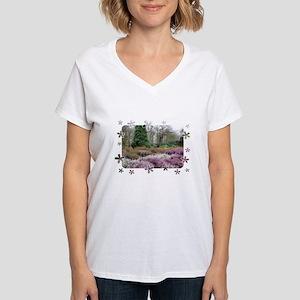Woodland Scene Women's V-Neck T-Shirt