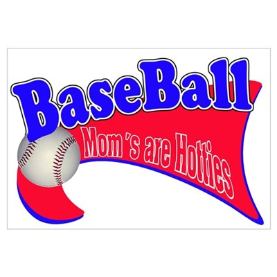BaseBall Mom's Are Hotties Re Canvas Art