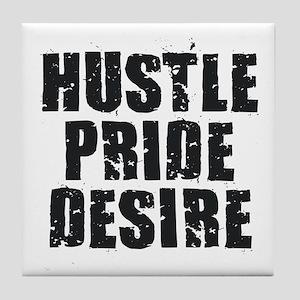 Hustle Pride Desire - Black Tile Coaster