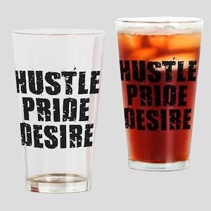 Hustle Pride Desire - Black Drinking Glass