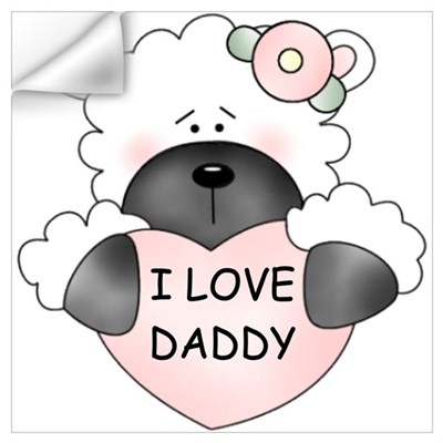 I LOVE DADDY Wall Decal