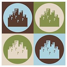 Urban Planning Pop Art Poster