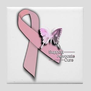 Breast Cancer - Tile Coaster