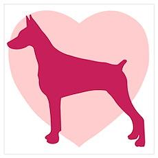 Doberman Pinscher Valentine's Day Poster