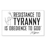 Resistance to Tyranny Sticker (Rectangle)