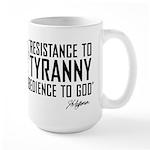 Resistance to Tyranny Large Mug
