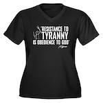 Resistance to Tyranny Women's Plus Size V-Neck Dar