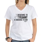 Resistance to Tyranny Women's V-Neck T-Shirt