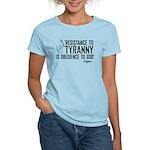 Resistance to Tyranny Women's Light T-Shirt