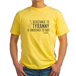 Resistance to Tyranny Yellow T-Shirt