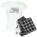 Resistance to Tyranny Women's Light Pajamas