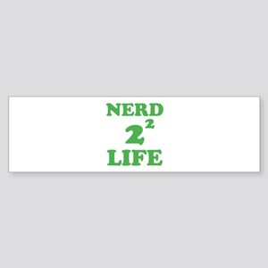 NERD FOR LIFE Sticker (Bumper)