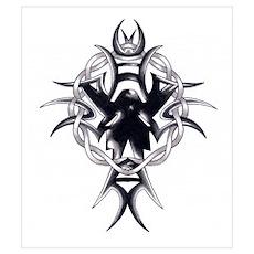 Celtic Cross Tribal Tattoo Poster