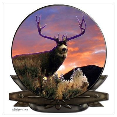 Monster Muley Framed Print