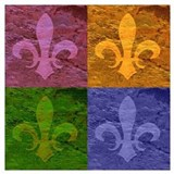 Fleur de lis Wrapped Canvas Art