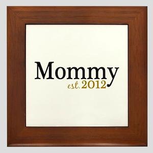 New Mommy Est 2012 Framed Tile