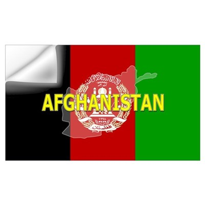 Afghanistan Flag Extra Wall Decal