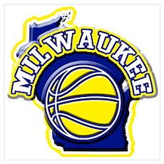 Milwaukee Basketball Poster