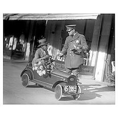 Pedal Car Traffic Stop, 1922 Poster