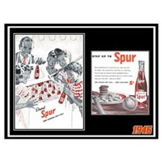 """1946 Spur Cola Ad"" Poster"
