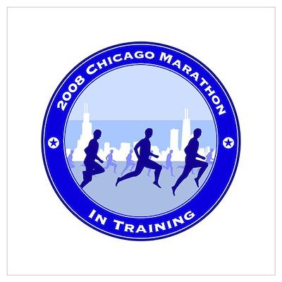 2008 Chicago Marathon - In Training Small Framed P Poster