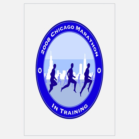 2008 Chicago Marathon - In Training Small Framed P