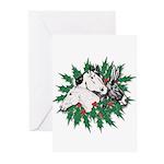 Merry Christmas Three Times O Greeting Cards (Pk o