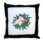Merry Christmas Three Times O Throw Pillow