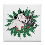Merry Christmas Three Times O Tile Coaster