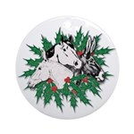 Merry Christmas Three Times O Ornament (Round)