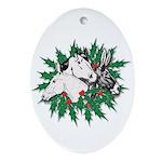 Merry Christmas Three Times O Ornament (Oval)
