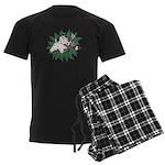 Merry Christmas Three Times O Men's Dark Pajamas