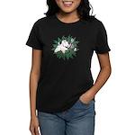 Merry Christmas Three Times O Women's Dark T-Shirt