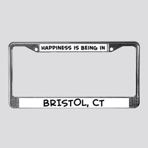 Happiness is Bristol License Plate Frame