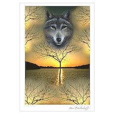 Wolf ~ Shaman's Dream ~ Poster