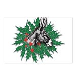 Donkey Christmas Postcards (Package of 8)