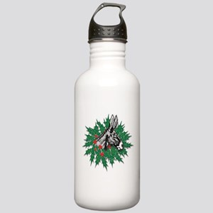 Donkey Christmas Stainless Water Bottle 1.0L