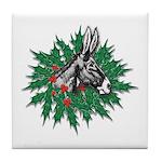 Donkey Christmas Tile Coaster