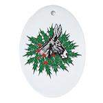 Donkey Christmas Ornament (Oval)