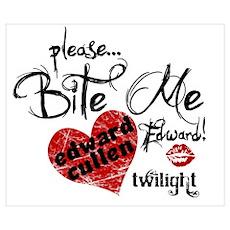 Please Bite Me Edward Cullen Poster