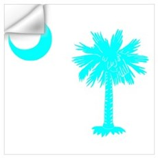 Palmetto and Crescent SC Wall Decal