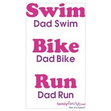 Triathlon Dad Poster