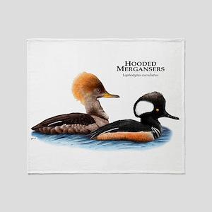 Hooded Mergansers Throw Blanket