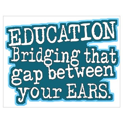 Aqua, Education Bridging The Gap Poster