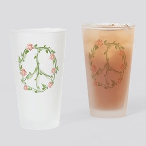 Green Peace Drinking Glass
