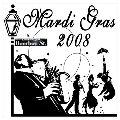 Jazz It Up On Bourbon St. Poster