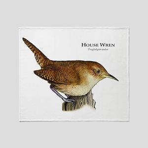 House Wren Throw Blanket