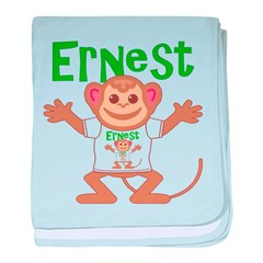 Little Monkey Ernest baby blanket